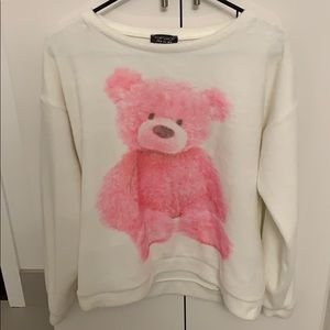Topshop - fuzzy teddy bear sweatshirt
